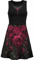 Blood Rose AllOver Skater Midi Kleid