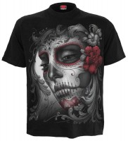 Skull Roses T-Shirt nur Frontdruck