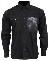 Wolf Soul Casual Langarm Herrenhemd
