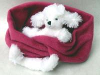 Fleeceschal mit weißem Pudel