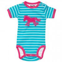 Horse Stripe Babystrampler
