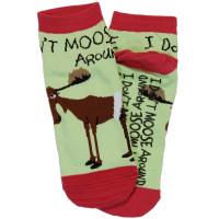 Dont Moose Around Unisex Slippersocken