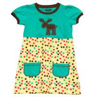 Polka Dot Moose T-Shirt Kleidchen