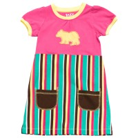 Bear Stripe T-Shirt Kleidchen