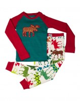 Pattern Moose Kinder Pyjamaset Langarm
