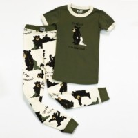 Bear in Morning Kurzarm  Jungen Pyjamaset