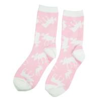 Pink Classic Moose halbhohe Crew-Socken