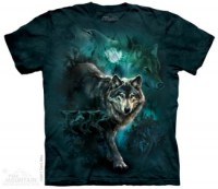 Night Wolves Collage T-Shirt