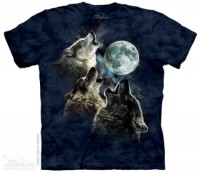 3 Wolf Moon Blue Wolves T-Shirt