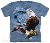 Faded Flag & Eagles Shirt