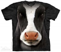 Black Cow Face T-Shirt