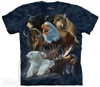 Wild Alaskan Collage Animals T Shirt