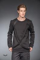 Warmer Pullover mit 2 Bondages vorn +Größe