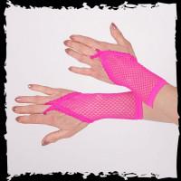 Handschuhe mit Schlaufe Mittelfinger pink