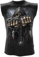 Game Over - ärmelloses Männershirt schwarz