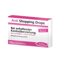 Anti Shopping Drops - lustige Schokomedizin