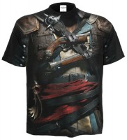Assassins Creed IV Black Flag AO T-Shirt schwarz