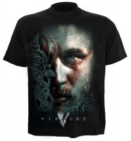 Ragnar Face Vikings T-Shirt schwarz