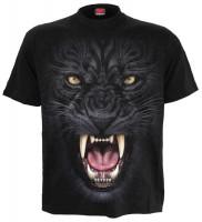 Tribal Panther T-Shirt schwarz