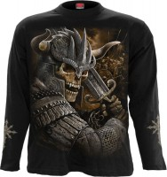 Viking Warrior Longsleeve schwarz