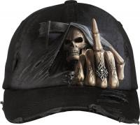 Bone Finger Baseball Cap mit Metallverschluss