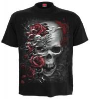 Skulls n` Roses T-Shirt schwarz