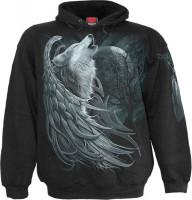 Wolf Spirit Hoodie schwarz
