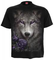 Wolf Roses T-Shirt nur Frontdruck