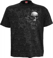 Skull Scroll Scroll Impression T-Shirt