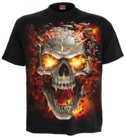 Skull Blast Kinder T-Shirt schwarz