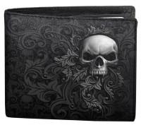 Skull Scroll Bifold Wallet RFID Blocker