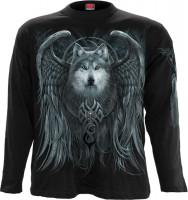 Wolf Spirit Longsleeve schwarz