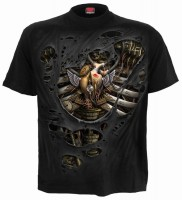Steam Punk Ripped  T-Shirt schwarz