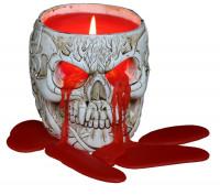Goth Skull Wachskerze im Schädelbecher