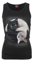 Yin Yang Cats Ärmelloses Top Rundkragen