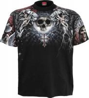 Life and Death Cross T-Shirt Rundumdruck