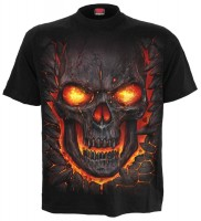 Skull Lava T-Shirt schwarz