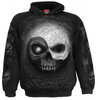 Yin Yan Skulls Hoodie schwarz