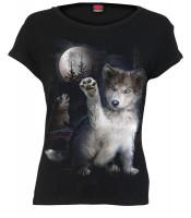 Wolf Puppy Bootskragentop Kapselärmel