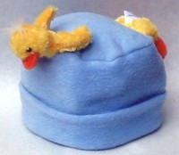 Fleecemütze und Schal Ente