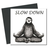Slow Down Öko-Magnet