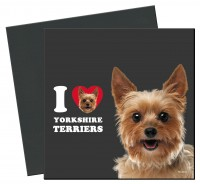 I Love Yorkshire Terriers Öko-Magnet
