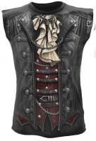 Goth Wrap ärmelloses Männershirt Rundumdruck