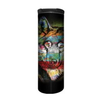 Painted Wolf Animal Barista Tumbler Thermobecher