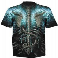 Flaming Spine - T-Shirt Rundumdruck