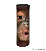 Big Face Baby Orang Utan Barista Thermobecher