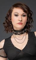 Halsband Ring und 2 Ketten, Grösse variabel einstellbar