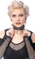 Halsband mit Ring und Nieten, Grösse variabel einstellbar