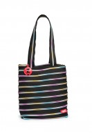 ZIPIT ZBN Medium Tote Bag Black & Rainbow