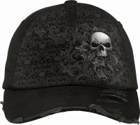 Skull Scroll Baseball Cap mit Metallverschluss